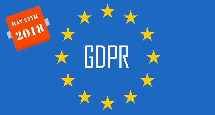 European flag with GDPR in the centre.